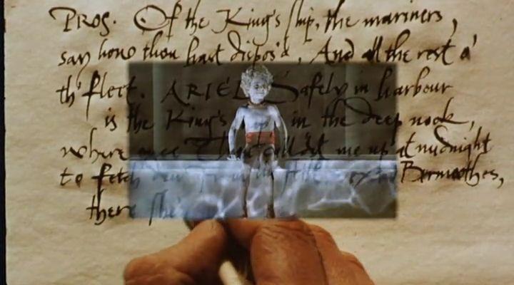 Kép a képben, írással. <em>Prospero könyvei</em> (<em>Prospero's Books</em>. Peter Greenaway, 1991)