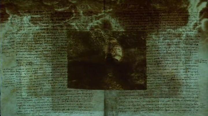 A grafikus és az ikonikus reprezentáció összeolvadása . <em>Prospero könyvei</em> (<em>Prospero's Books</em>. Peter Greenaway, 1991)