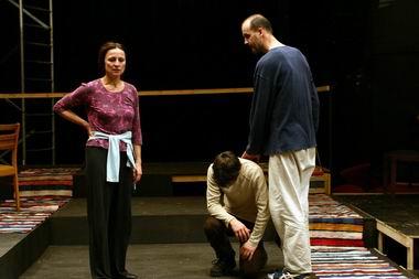 Próbafotó, Varjú Olga (Gertrud) és Seress Zoltán (Claudius)