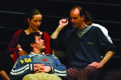 Szorcsik Kriszta (Gertrud), Seress Zoltán (Claudius) és Balázs Zoltán