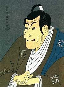 A kabuki színház népszerűsítésére megalkotott fametszet jól reprezentálja a szovjet filmművész által tett állítást, miszerint a szemek, az orr, a száj és az arc többi részének egymáshoz viszonyított arányai nem megfelelőek