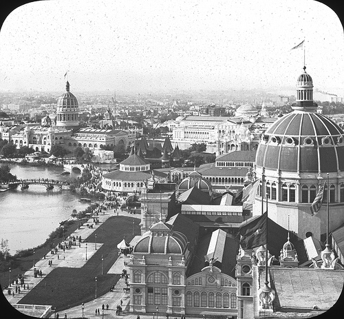 """A """"fehér város"""" az 1893-as, chicagói világkiállításon."""