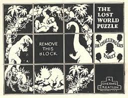 A világ legelső merchandise-terméke, az Elveszett világ című filmhez készült puzzle